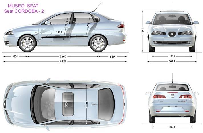 Cordoba2 medidas for Seat cordoba interior